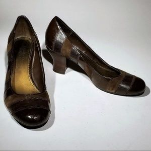 Franco Sarto Elegant Heels - brown size 7.5